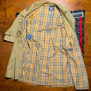 vintage burberry kingston trench coat